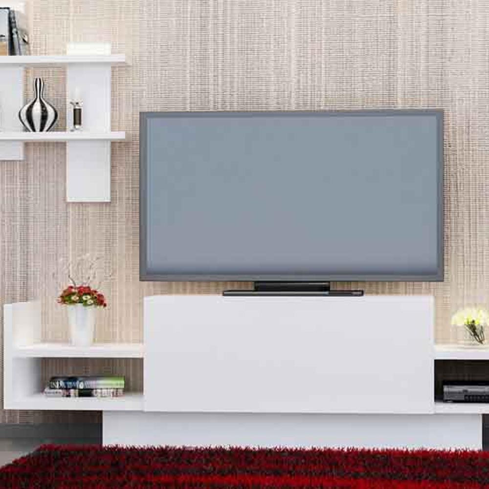 TV TABLE Bahar Tek With Drawer White Color (CR3-179)