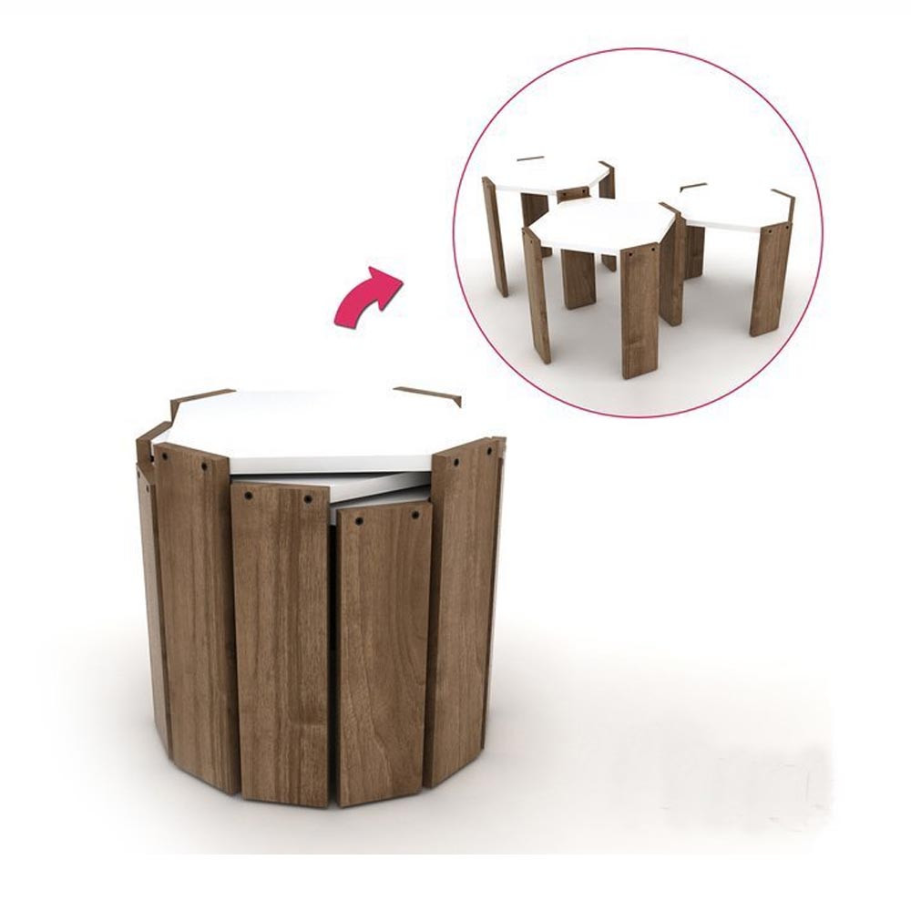 RAFEVİ HANSEL ZIGON COFFEE TABLE WALNUT (RE3-125)