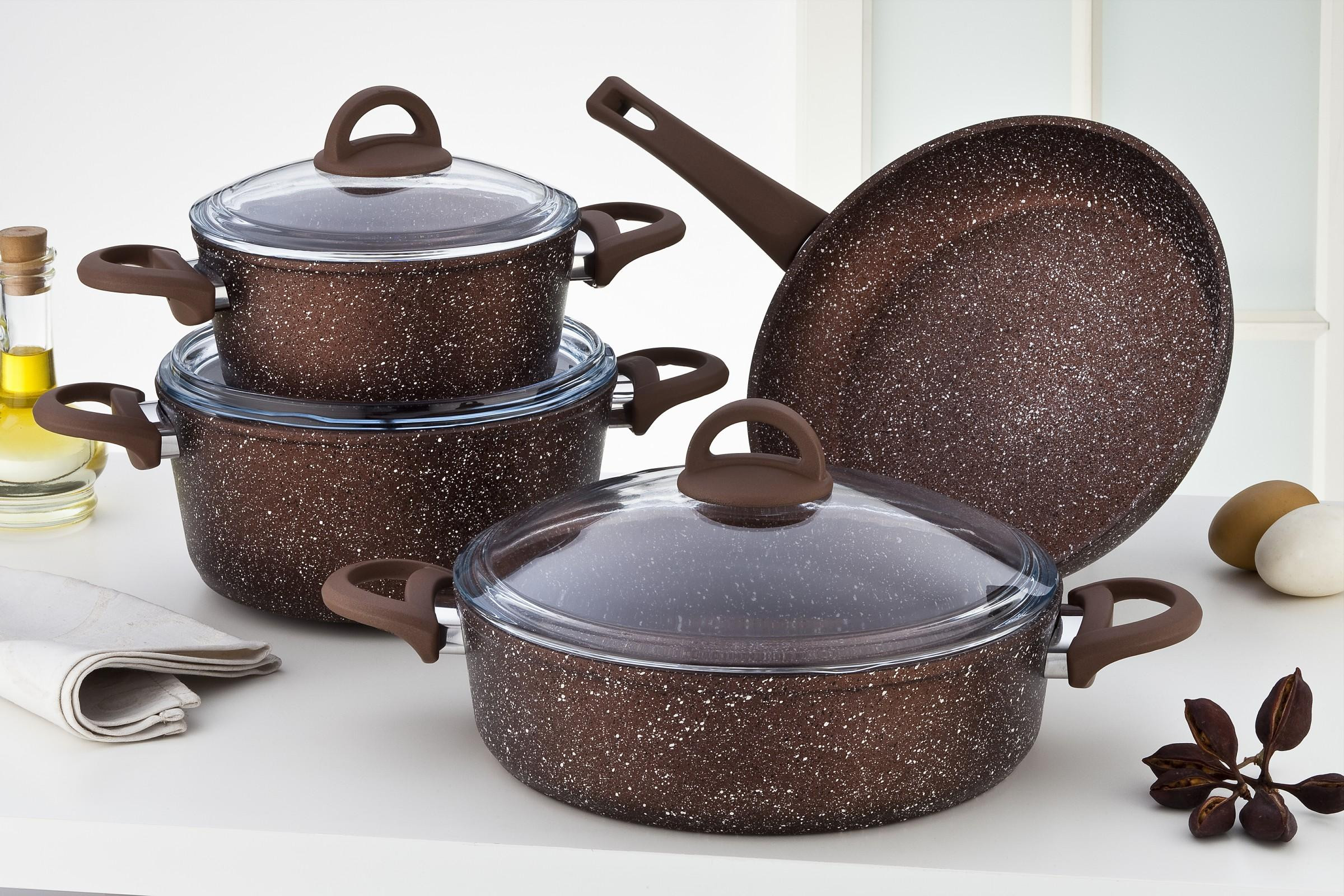 Sofram GRANIT 7 Pieces Bronze Cookware Set