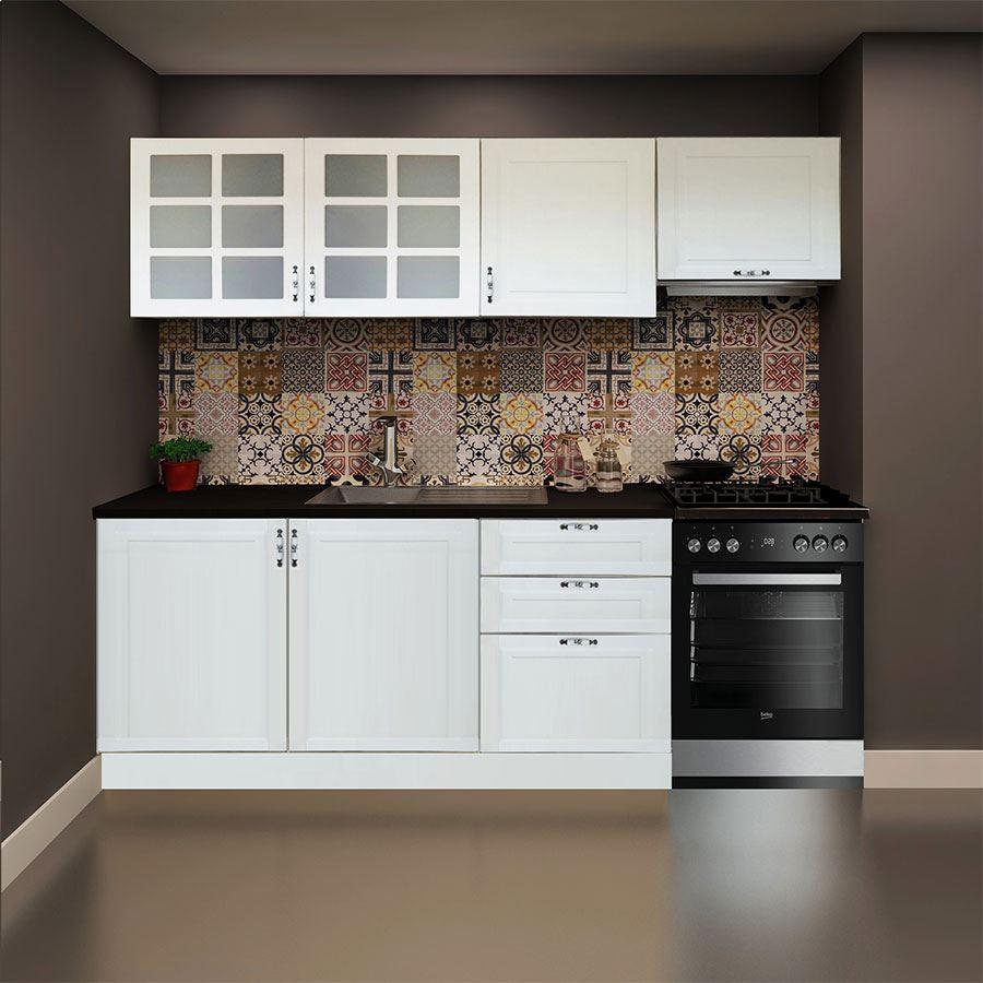 Ors Membrane Kitchen Cabinet with Aspirator Module White 240 cm