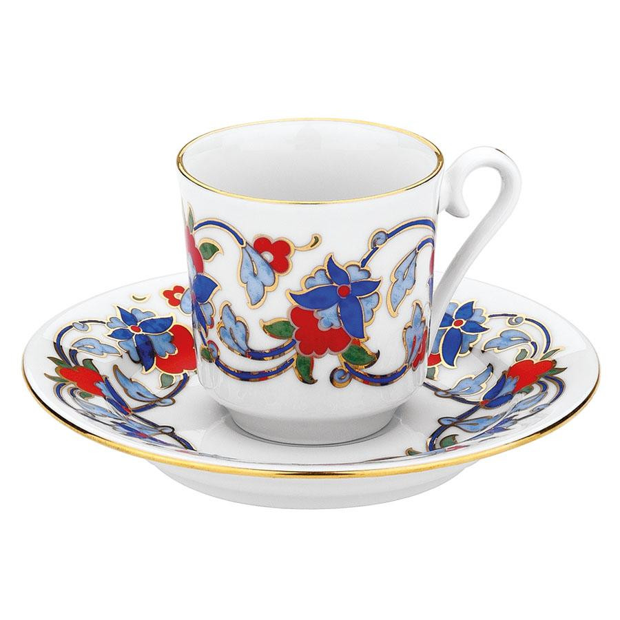 Kutahya Porselen GZ12KT07554 Hand Painted Coffee Set for 6 Persons