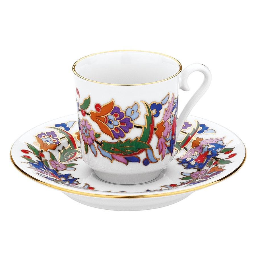 Kutahya Porselen GZ12KT07457 Hand Painted Coffee Set for 6 Persons