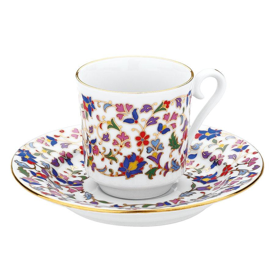 Kutahya Porselen GZ12KT073645 Hand Painted Coffee Set for 6 Persons