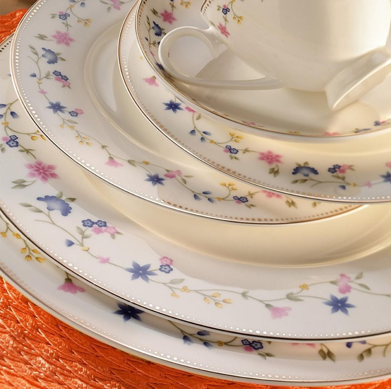 Kutahya Porselen BONE CHINA 84 Pieces 25137 Patterned Dinnerware Set