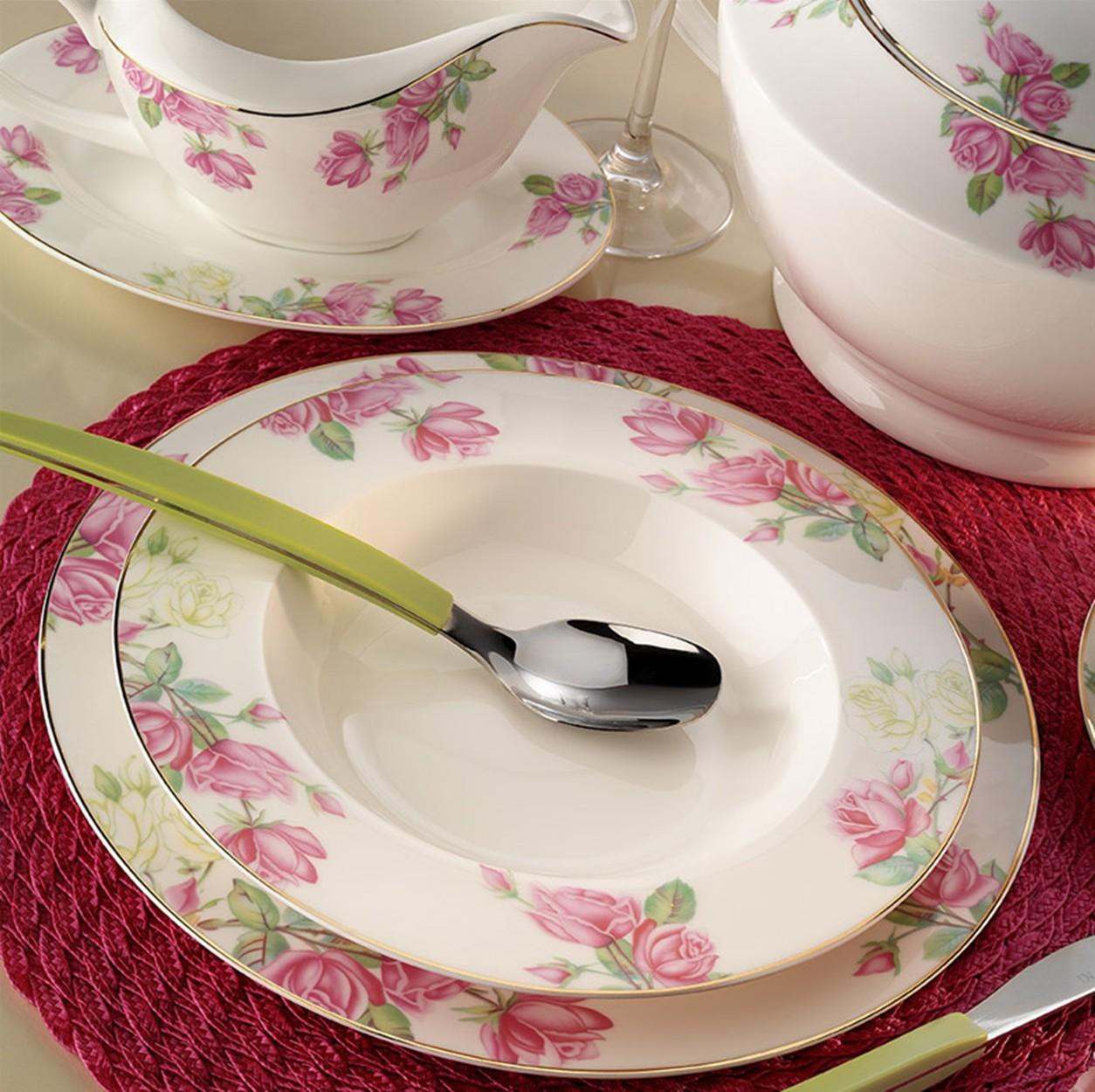 Kutahya Porselen BONE CHINA 84 Pieces 25139 Patterned Dinnerware Set