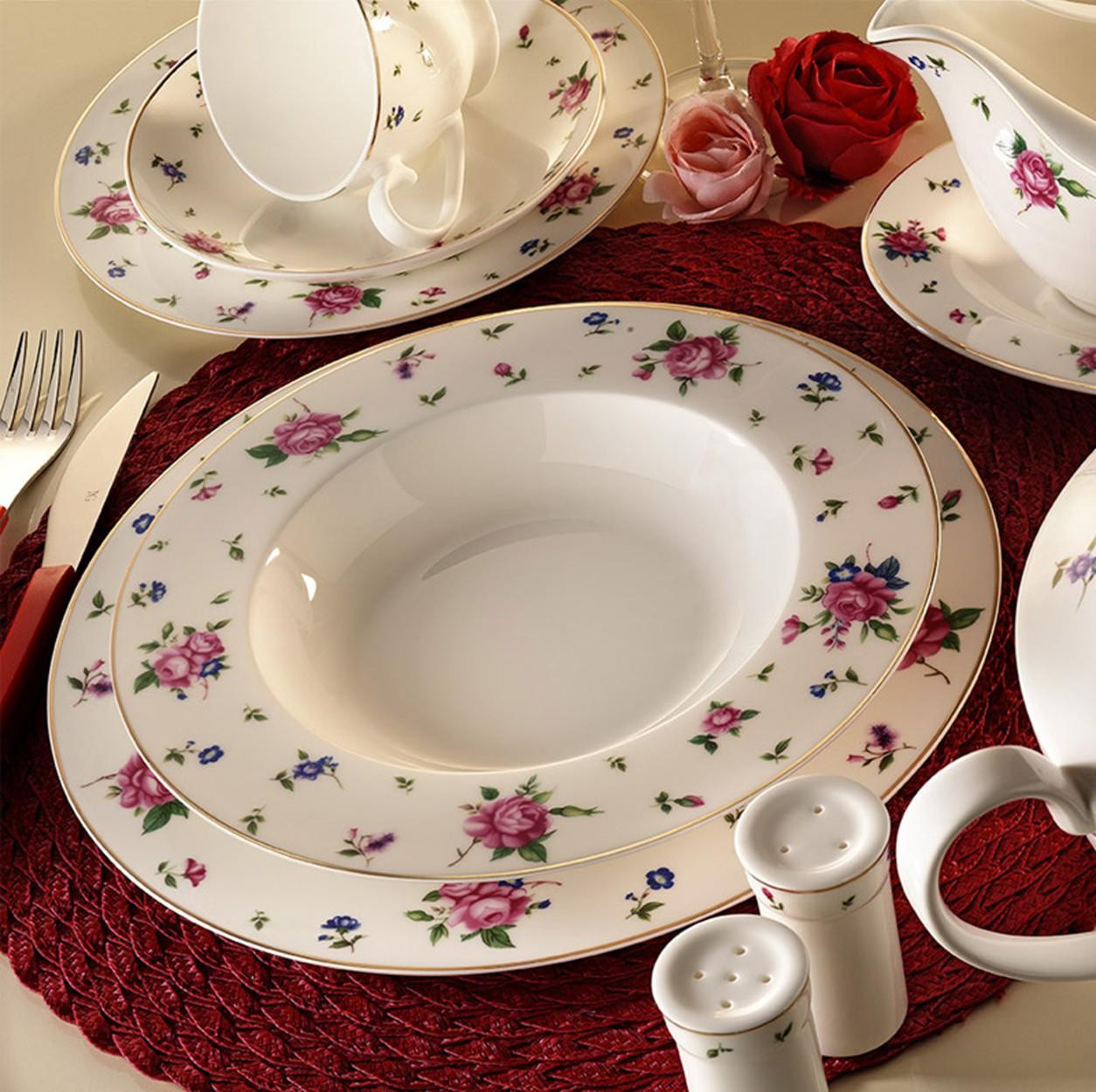 Kutahya Porselen BONE CHINA 84 Pieces 25140 Patterned Dinnerware Set