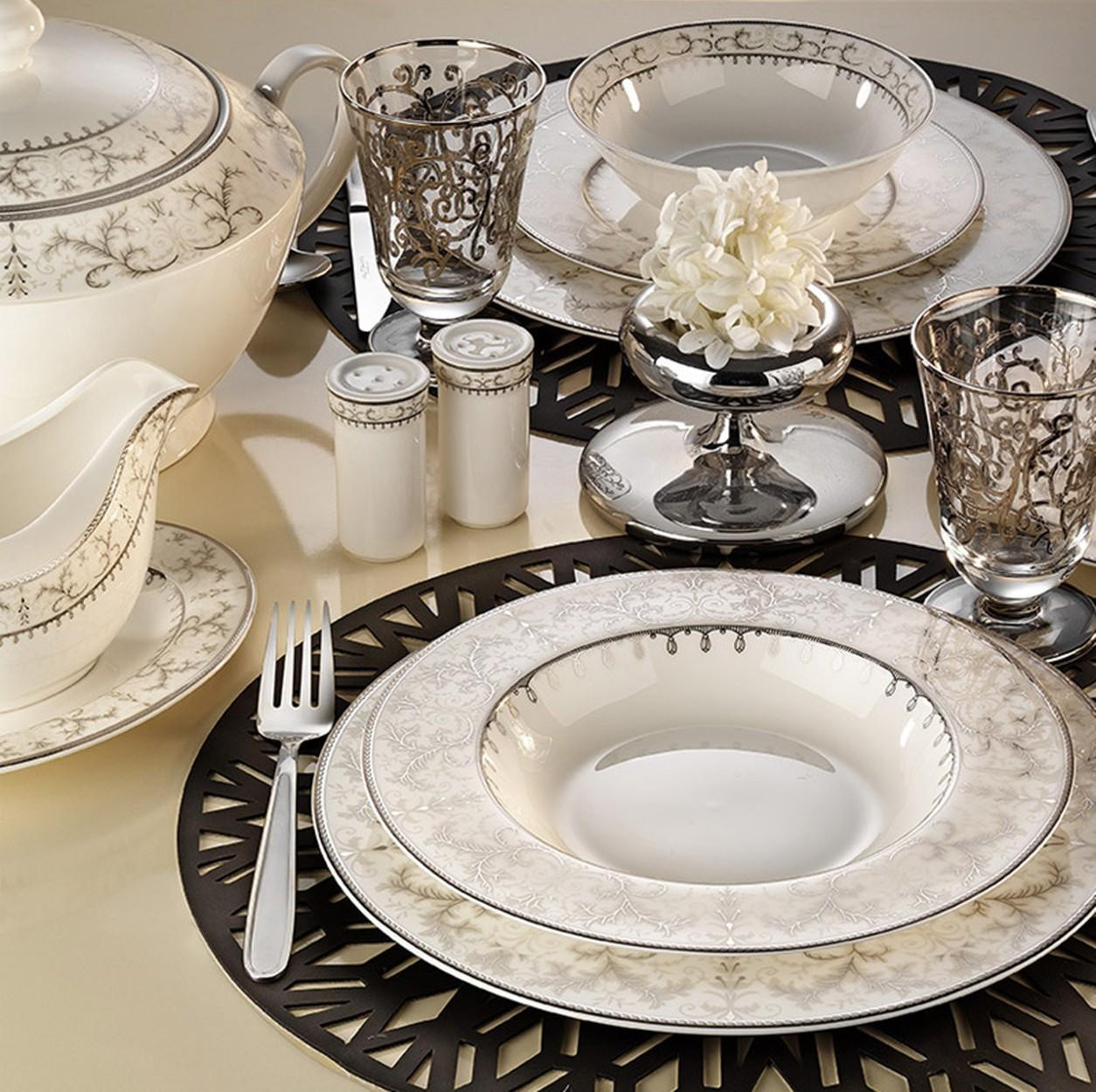 Kutahya Porselen BONE CHINA 84 Pieces 25141 Patterned Dinnerware Set