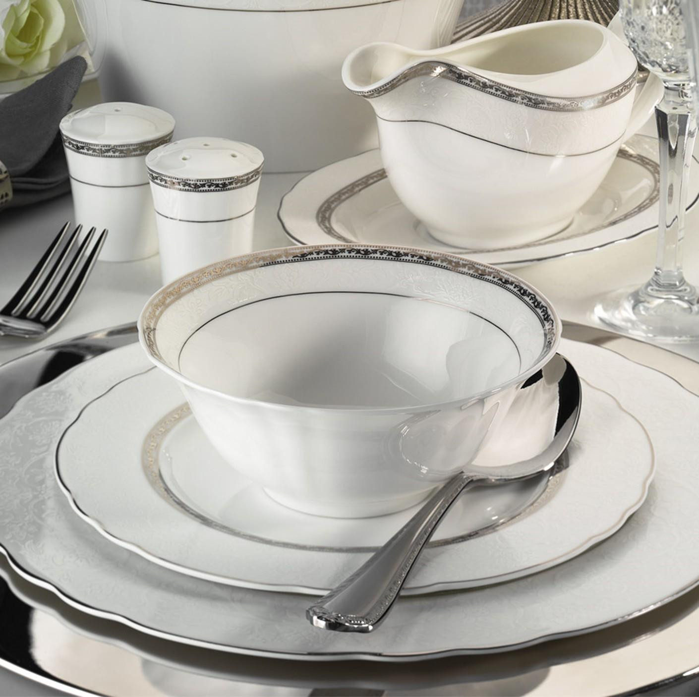 Kutahya Porselen ASPENDOS BONE 84 Pieces 25151 Patterned Dinnerware Set