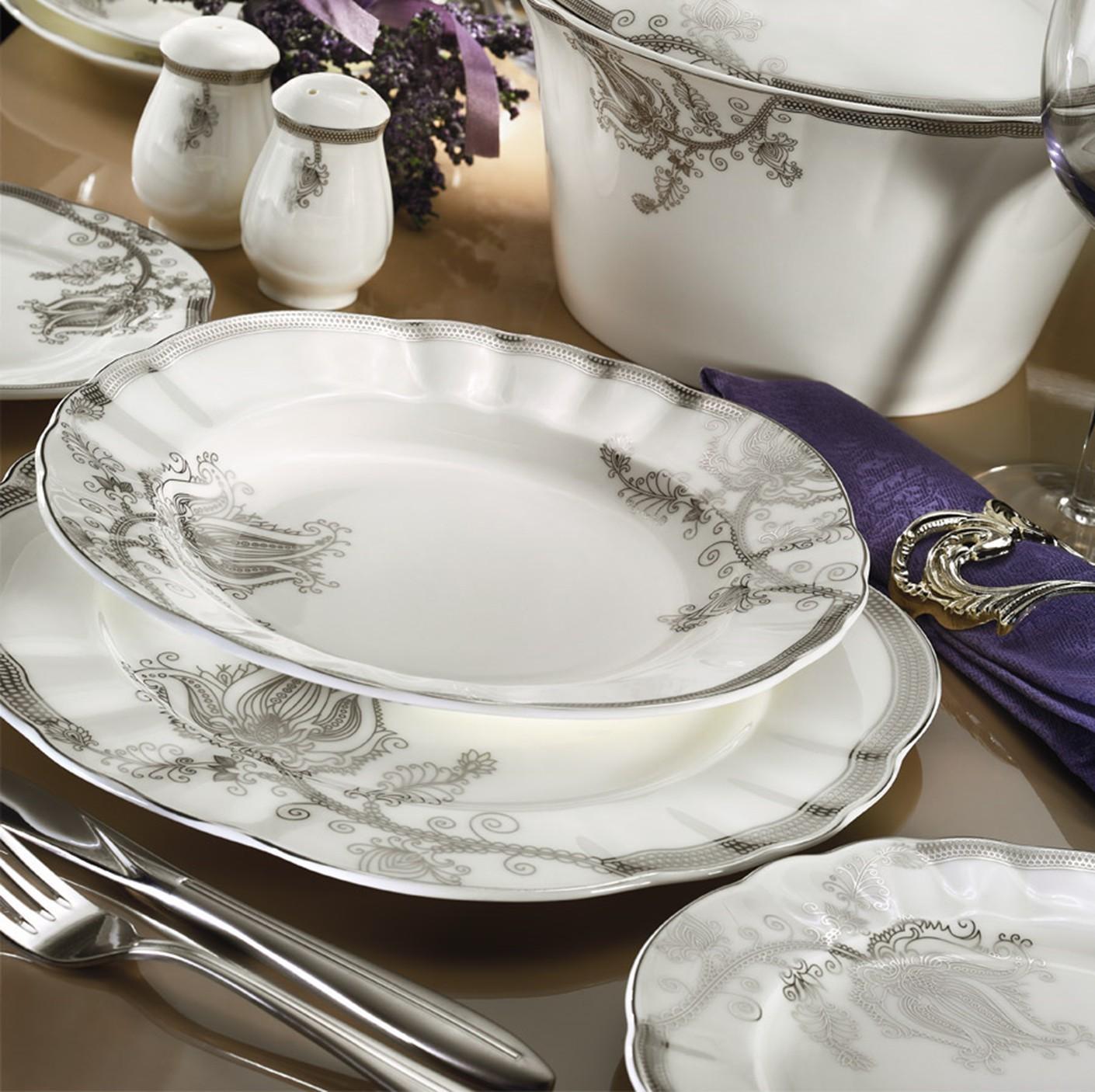 Kutahya Porselen MITTERTEICH ROMANS 84 Pieces 50118 Patterned Dinnerware Set