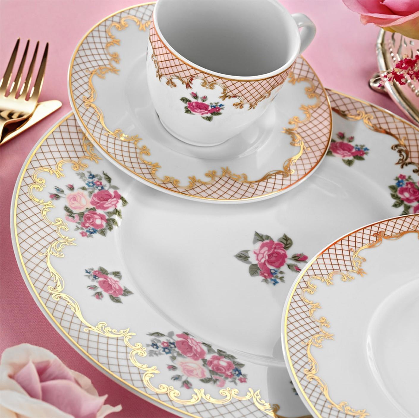 Kutahya Porselen FINE BONE Patterned 82 Pieces 8657 Dinnerware Set