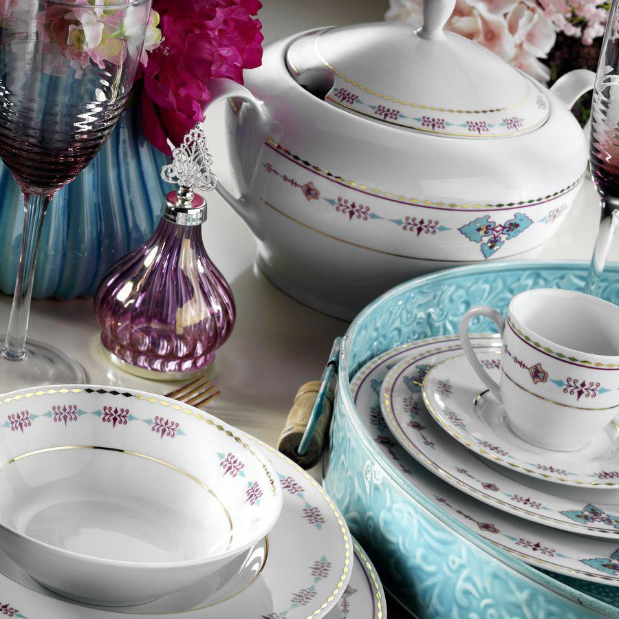 Kutahya Porselen LEONBERG 83 Pieces 9297 Patterned Dinnerware Set