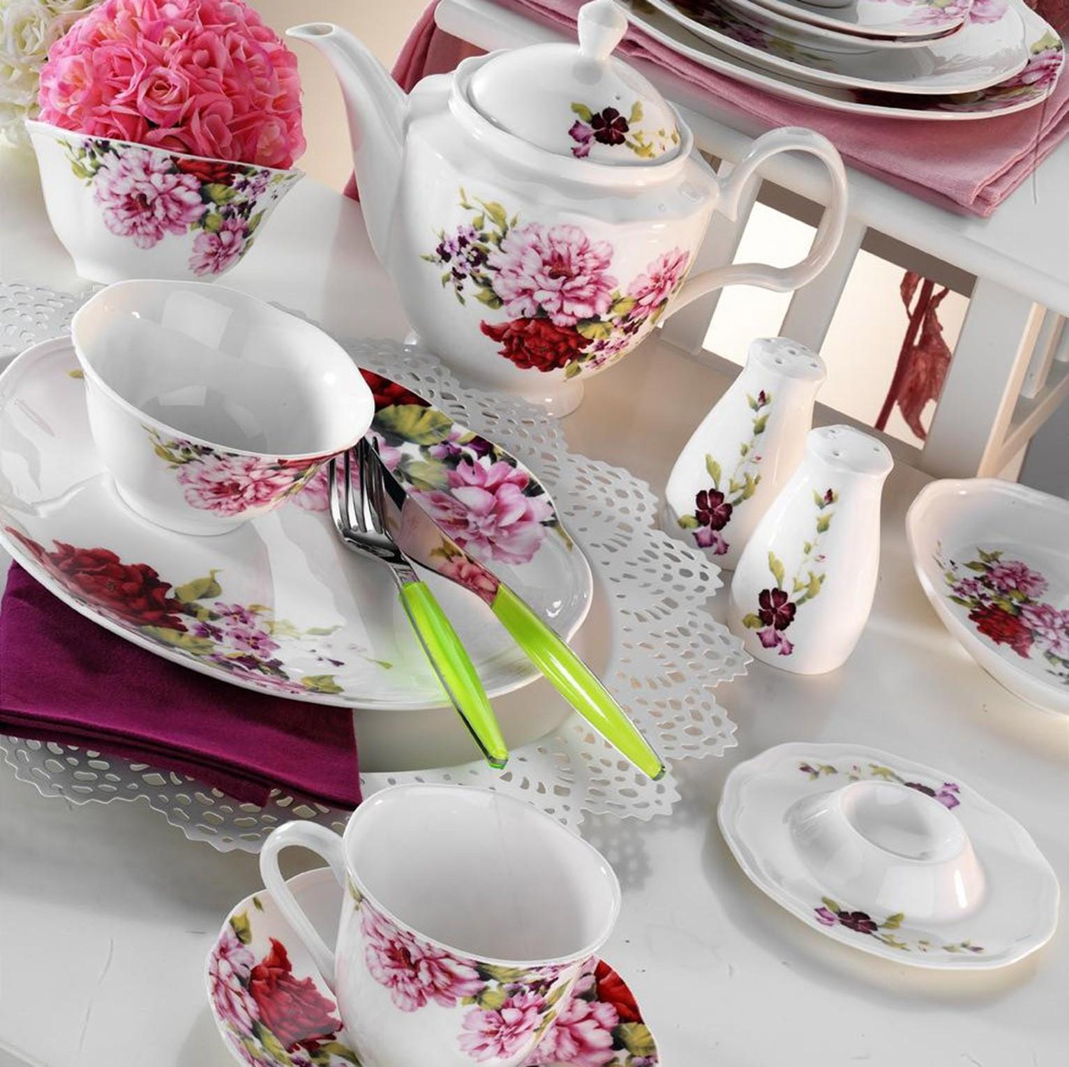 Kutahya Porselen FINE BONE 44 Pieces 55106 Dinnerware Set