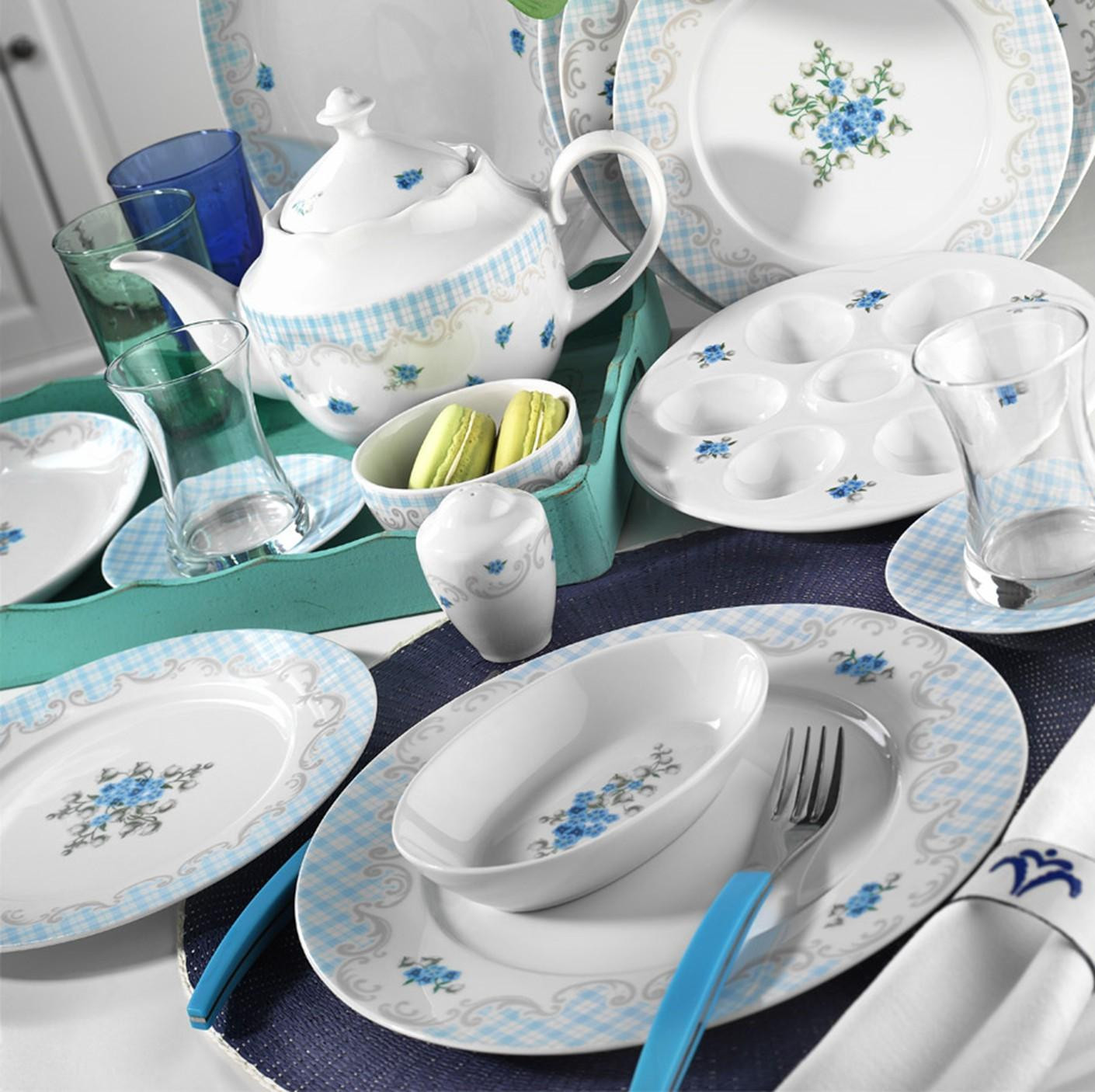 sc 1 th 224 & Kutahya Porselen LEONGBERG 43 Pieces 8537 Patterned Dinnerware Set