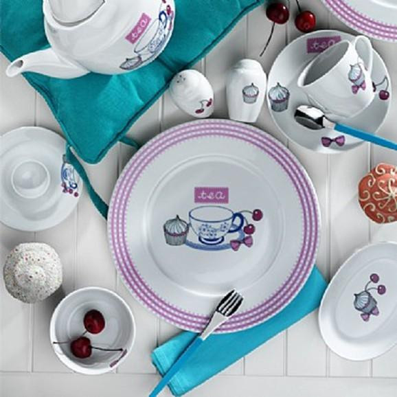 Kutahya Porselen 33 Pieces 8003 Patterned Dinnerware Set