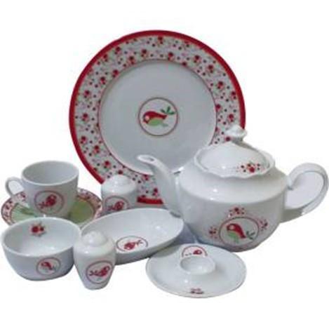 Kutahya Porselen 33 Pieces 9383 Patterned Dinnerware Set