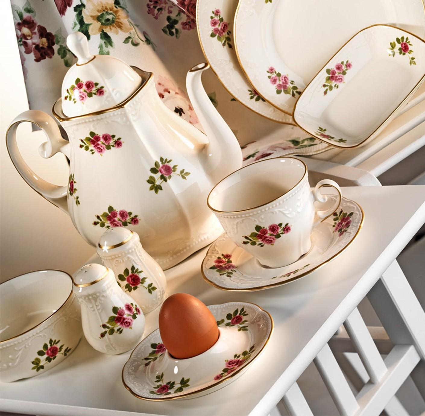 Kutahya Porselen MITTERTEICH CAPRICE 42 Pieces 77752 Patterned Dinnerware Set