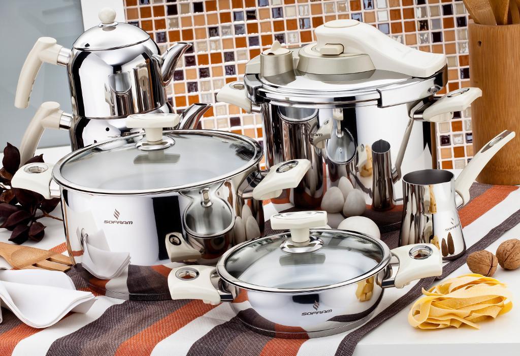 Sofram KUPON 22 Pieces Cream Cookware Set