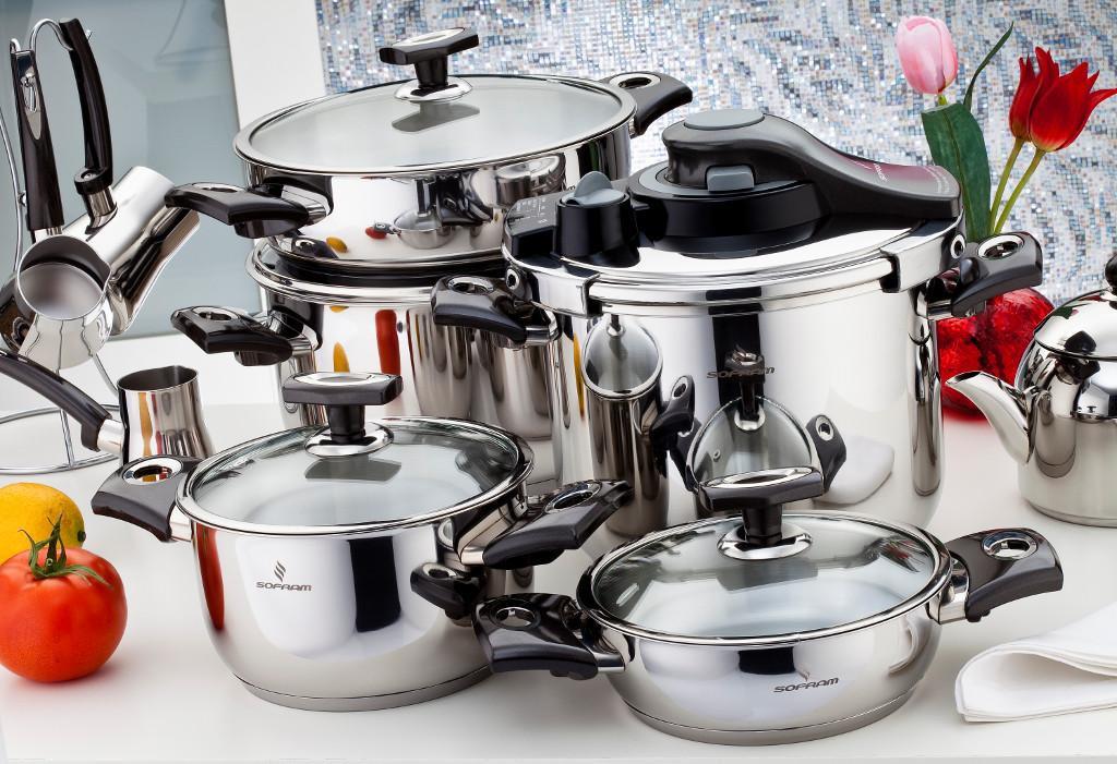 Sofram KUPON 22 Pieces Black Cookware Set