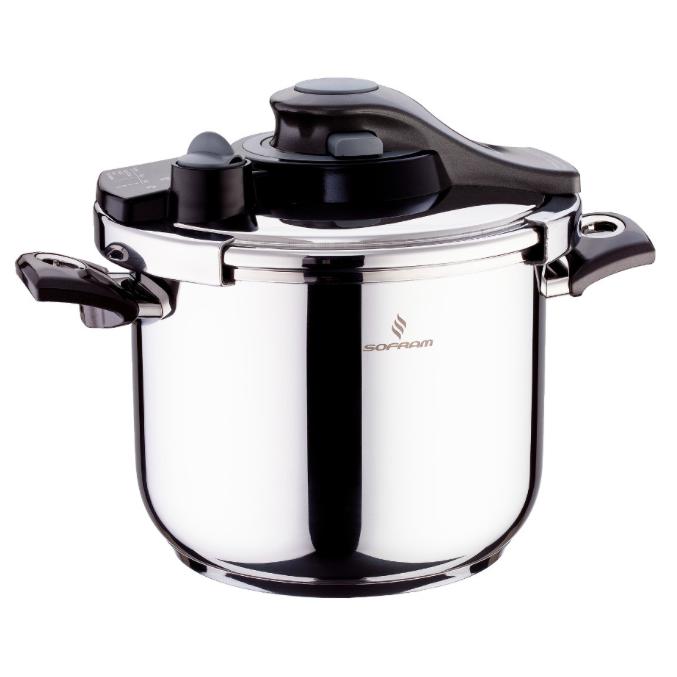 Sofram KUPON Matic Black Pressure Pot Cooker 6 lt 22 cm
