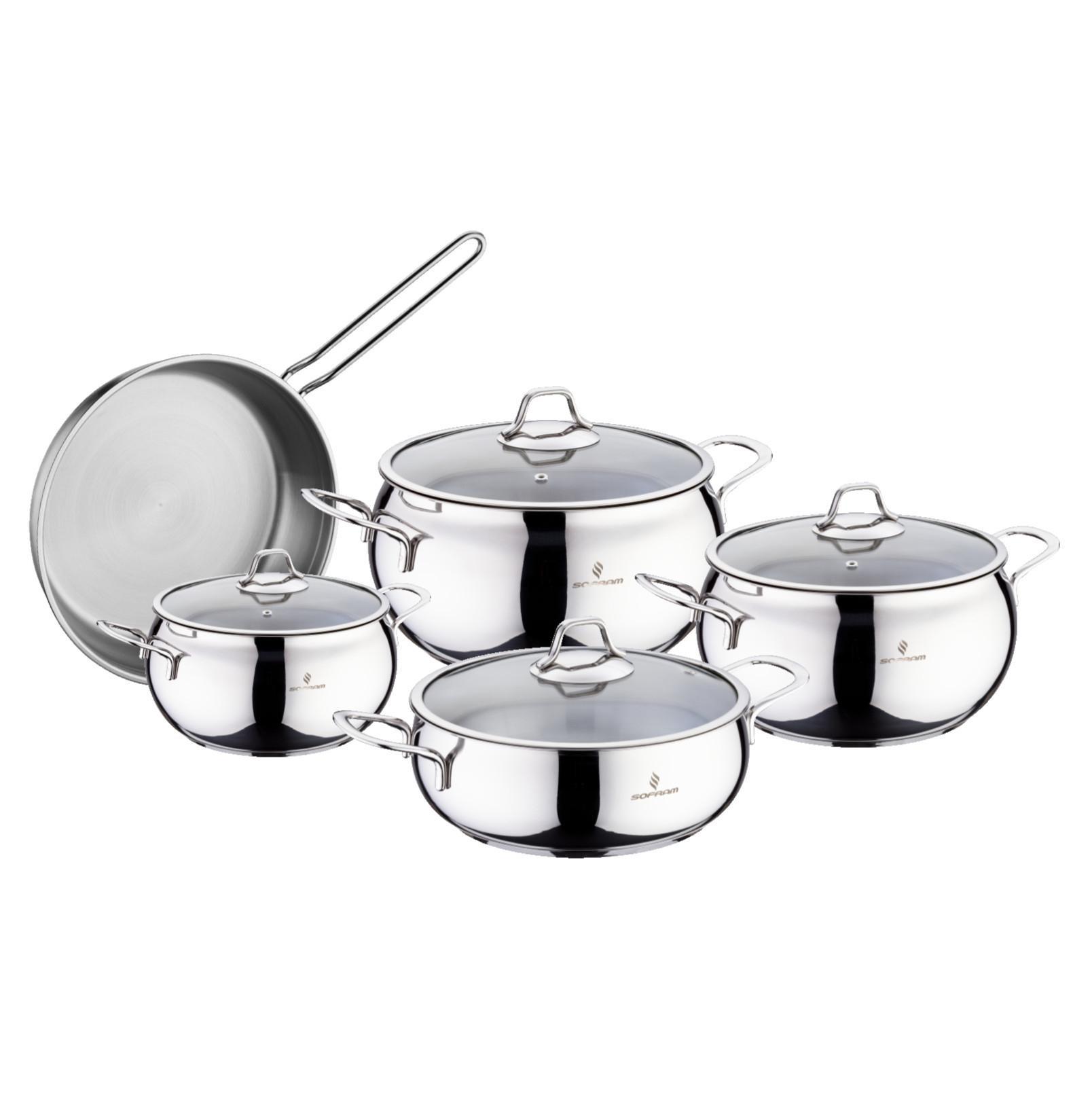 Sofram LUNA 9 Pieces Cookware Set