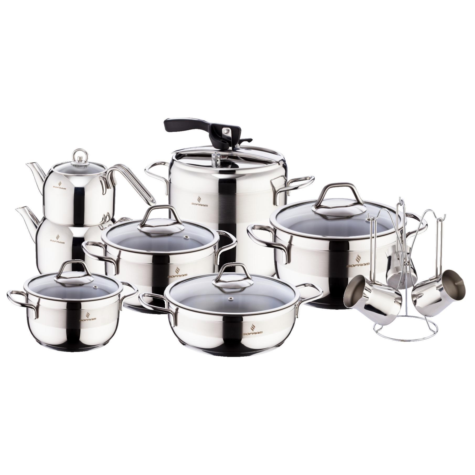 Sofram SOFT 18 Pieces Cookware Set