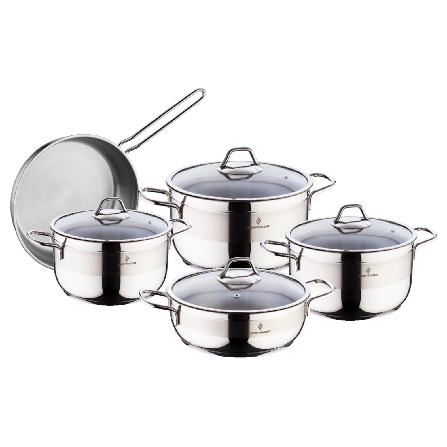 Sofram SOFT 9 Pieces Cookware Set