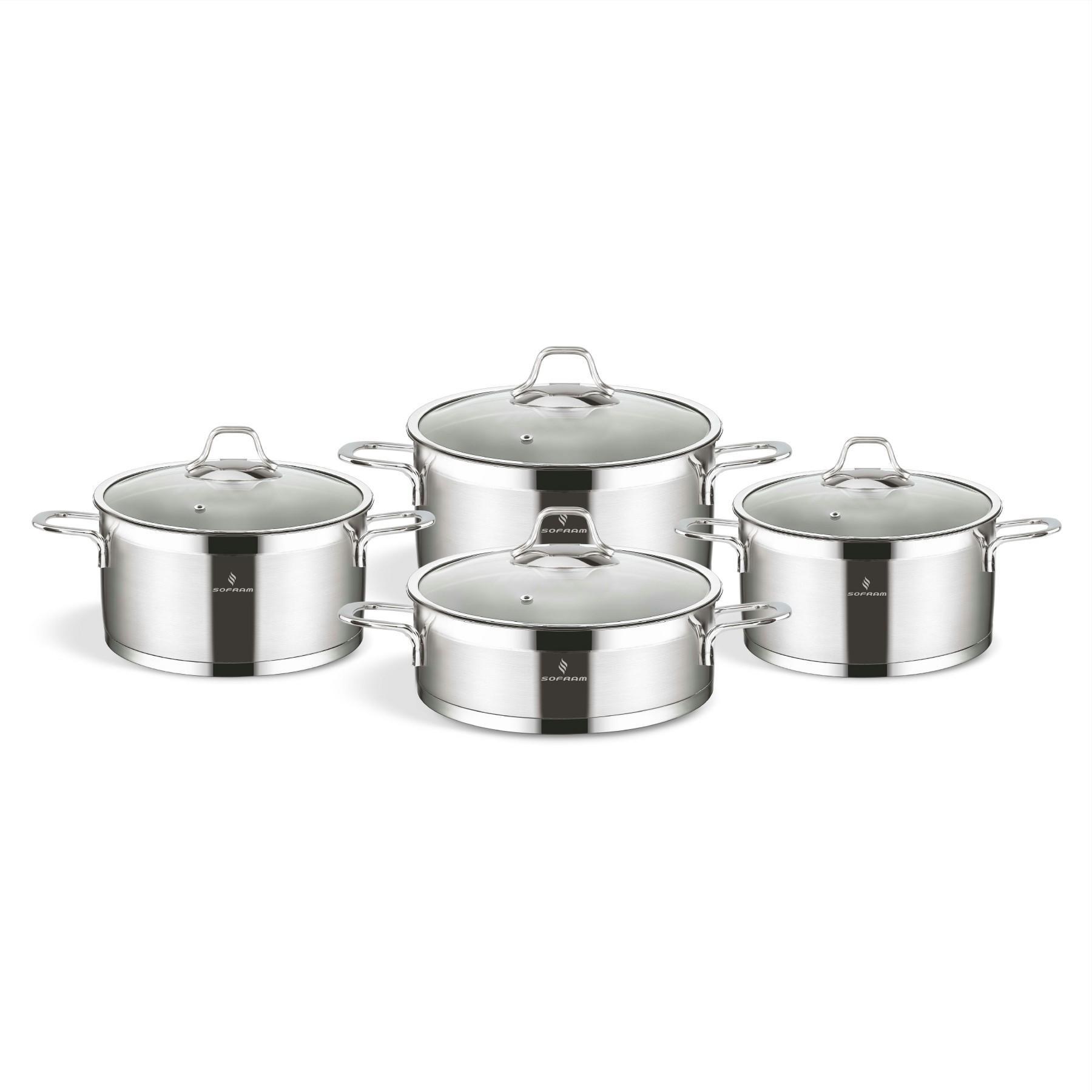 Sofram TETRA 8 Pieces Cookware Set