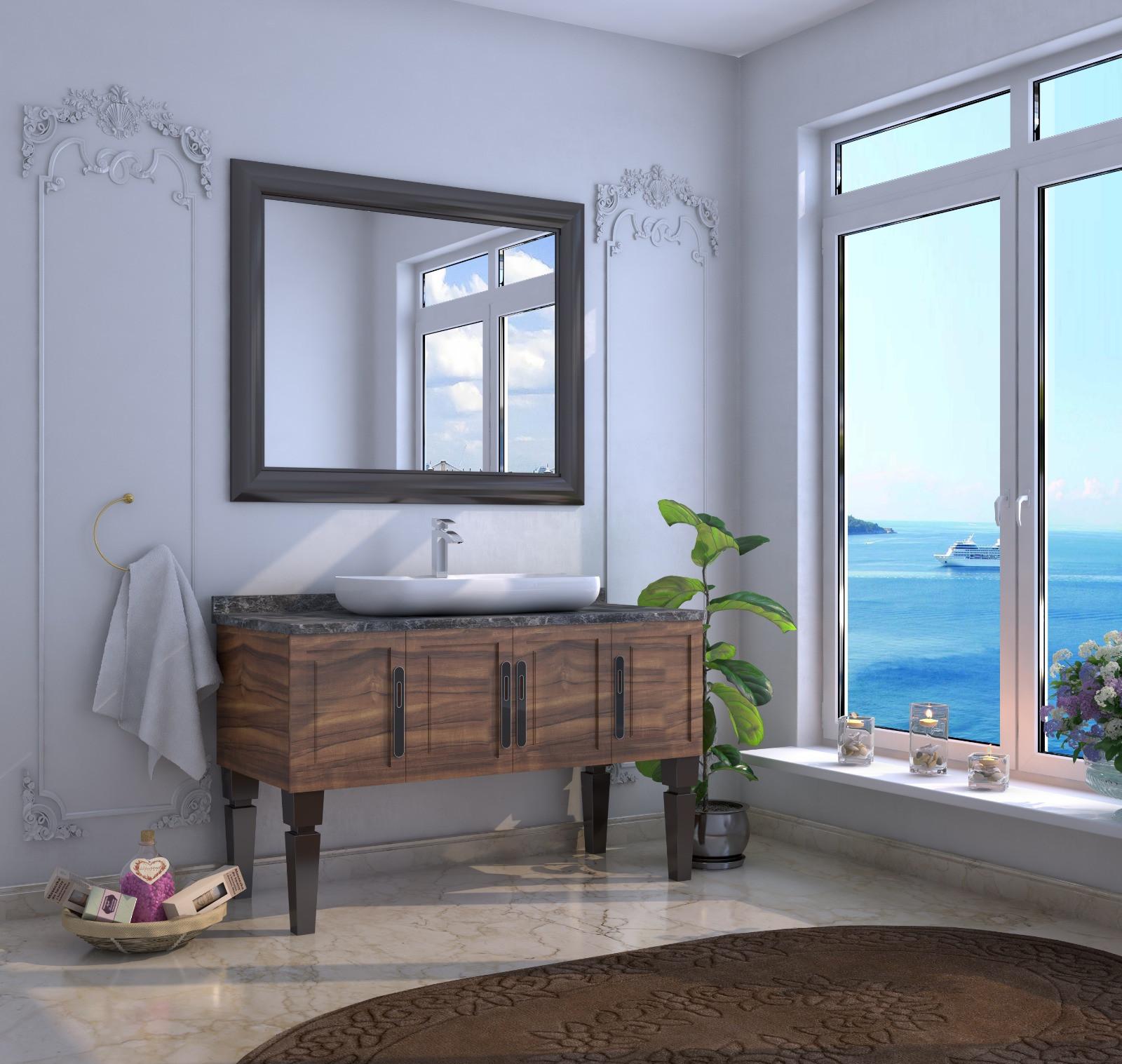 Bathroom washbasin with cabinet 2 pieces 1065