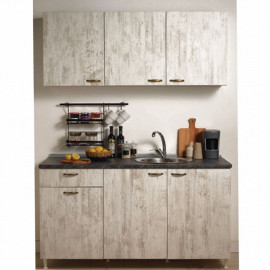 Cool Antique White Mini Fitted Kitchen Cabinet 150 cm Base Module