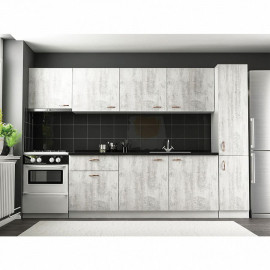 Latsirk White Kitchen Cabinet with Aspirator Module 255 cm