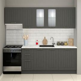 Asin 240 Cm Anthracite Aspirator Module Kitchen