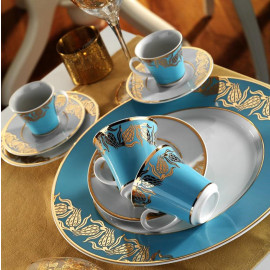 Kutahya Porselen IRIS 97 Pieces 6589 Patterned Dinnerware Set