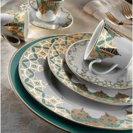 Kutahya Porselen IRIS 97 Pieces 8839 Patterned Dinnerware Set