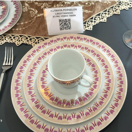 Kutahya Porselen LEONBERG 83 Pieces 9323 Patterned Dinnerware Set