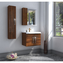 Bathroom washbasin with cabinet 3 pieces 1015