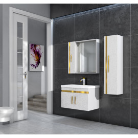 Bathroom washbasin with cabinet 3 pieces 1026