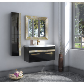 Bathroom washbasin with cabinet 3 pieces1017