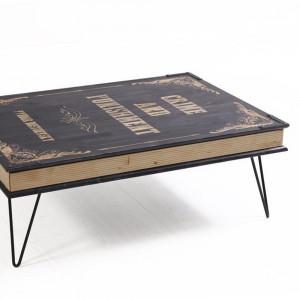 BOOK TABLE BLACK (HO3-240)