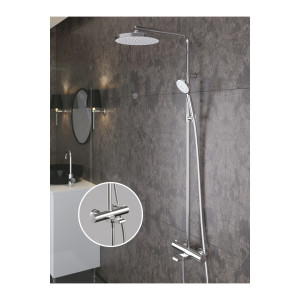 Galaxy Round 3 Way Shower Column
