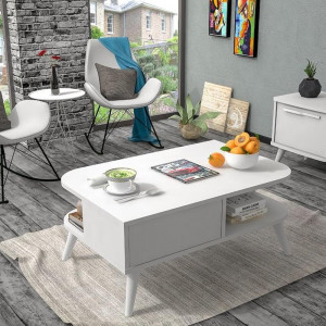 NIL WHITE MIDDLE TABLE (NK3-253)