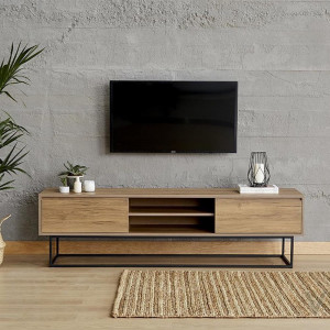 LAXUS TV TABLE WALNUT 180 CM (LG8-334)