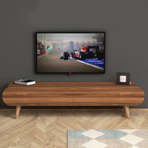 LOTUS TV TABLE WALNUT (NT3-528)