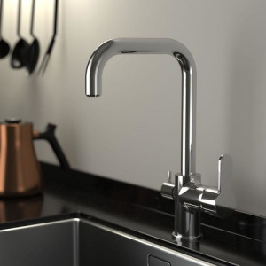 Lento Kitchen Mixer with Inlet For Filtered Water Swivel Spout Brass Body & Spout