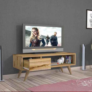 TV TABLE Maya With Drawer Walnut Color  (MG3-337)