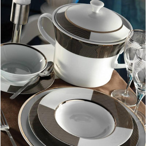 Kutahya Porselen IRIS 97 Pieces 7028 Patterned Dinnerware Set