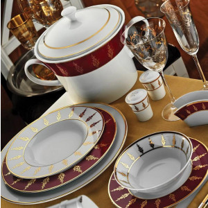 Kutahya Porselen IRIS 97 Pieces 6592 Patterned Dinnerware Set