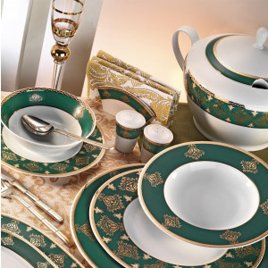 Kutahya Porselen LEONBERG 97 Pieces 7808 Patterned Dinnerware Set