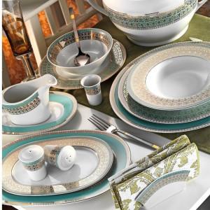 Kutahya Porselen LEONBERG 97 Pieces 7798 Patterned Dinnerware Set