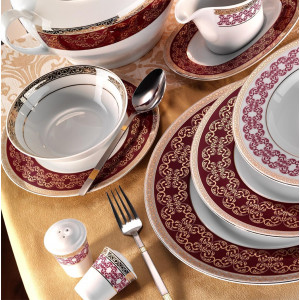 Kutahya Porselen LEONBERG 97 Pieces 7799 Patterned Dinnerware SeT