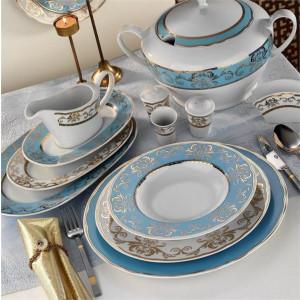 Kutahya Porselen LEONBERG 97 Pieces 6914 Patterned Dinnerware Set